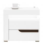 Noční stolek Irma, levý - bílý / wenge