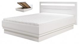 Moderní postel Irma 140x200cm s úložným prostorem - bílá