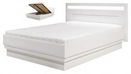 Manželská postel Irma 160x200cm s úložným prostorem - bílá