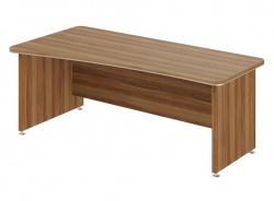 Psací stůl Lorenc 200x100cm levý - ořech