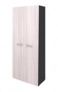 Šatní skříň dvoudvéřová Lorenc I - šedá/akát světlý
