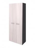 Šatní skříň dvoudvéřová Lorenc II - šedá/akát světlý