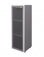 Skříňka Lorenc 120cm levá  - šedá/sklo