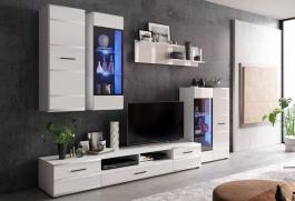 **Obývací stěna ROSSO I bílá