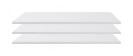 Doplňkové police k šatní skříni Angelika II (3ks) - bílá