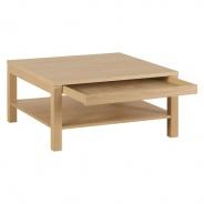 Konferenční stolek čtverec Nando - dýha dub
