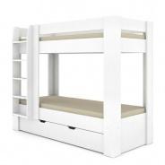 Dětská patrová postel REA Pikachu levá - bílá