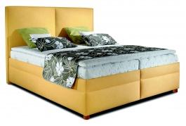 Čalouněná manželská postel BOX SPRING Polo 160/180x200cm - výběr potahu