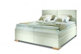 Čalouněná manželská postel BOX SPRING Katie 160/180x200cm - výběr potahu
