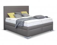 Čalouněná manželská postel BOX SPRING Cross 160/180x200cm - výběr potahu