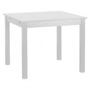 Čtvercový jídelní stůl Nora - bílá