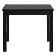 Čtvercový jídelní stůl Nora - černá