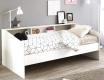 Dětská postel Billie 90x200cm - bílá