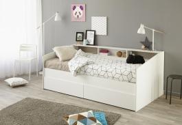 Dětská postel Billie 90x200cm s úložným prostorem - bílá