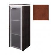 Skříňka Lorenc 123,3cm pravá - višeň/sklo