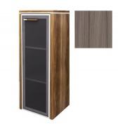 Skříňka Lorenc 123,3cm pravá - driftwood/sklo