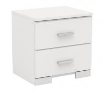 Noční stolek Space s 2 šuplíky - bílá