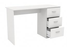 Psací stůl s šuplíky Space - bílá