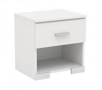 Noční stolek Space s šuplíkem - bílá