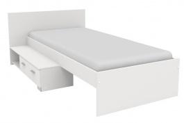 Postel se šuplíkem Space 90x200 cm - bílá