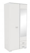 Šatní skříň se zrcadlem Space - bílá