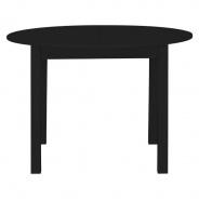 Kulatý jídelní stůl Nora - černá