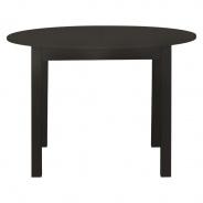 Kulatý jídelní stůl Nora - tmavě hnědá