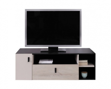 Studentský televizní stolek Saturn - černá/béžová