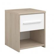 Noční stolek Josephine - dub jackson / bílá