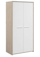 Dvoudveřová šatní skříň Josephine - dub jackson / bílá