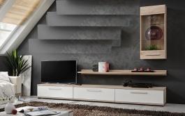 *Obývací stěna GOYA II dub sonoma/bílá