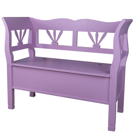 Dřevěná lavice s úložným prostorem HONEY - odstín P055