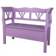 Dřevěná lavice s úložným prostorem HONEY - výběr barvy
