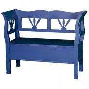 Dřevěná lavice s úložným prostorem HONEY - světlá patina - výběr hlavní barvy