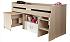 Dětské patrové postele s psacím stolem