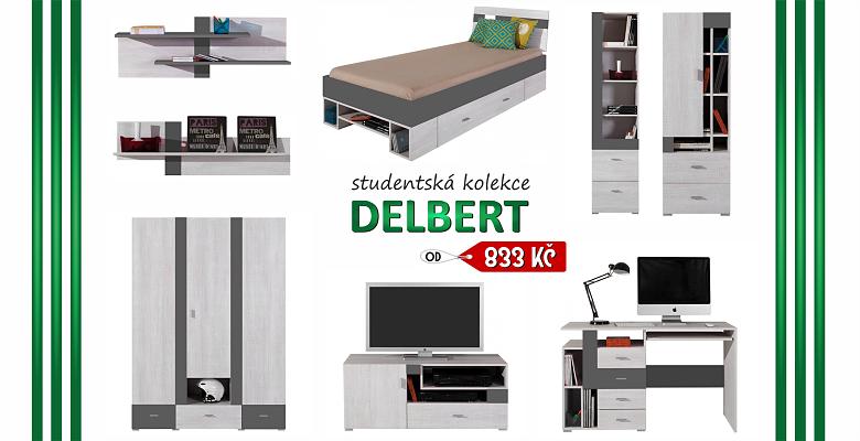 Nábytek do studentského pokoje DELBERT