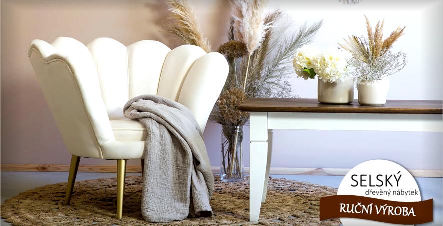 Vytvořte si kouzelnou atmosféru dřevěným nábytkem v SELSKÉM STYLU...