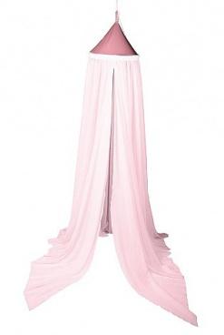 Nebesa nad postel - pastelově růžová (D237/PR)